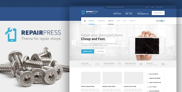 Computer Company Website Templates from ThemeForest