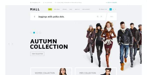 shopping mall theme psd files and photoshop template