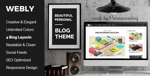 Power point presentation website templates from themeforest webly wordpress blog theme toneelgroepblik Gallery
