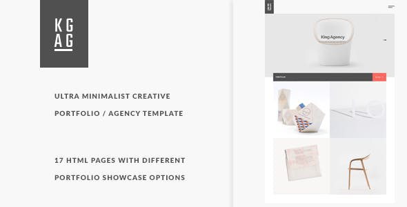Agency Minimalist Website Templates From ThemeForest - Minimalist website template