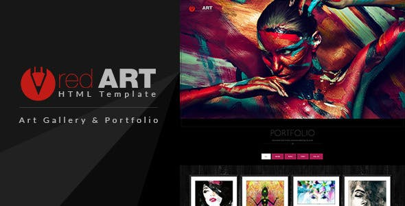 art gallery website website templates from themeforest