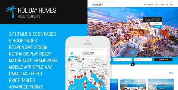 Holiday Homes Html Template