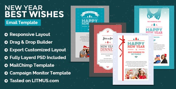 christmas new year newsletter builder access by eeemon themeforest