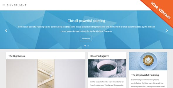 Api templates from themeforest silverlight responsive masonry html template malvernweather Images