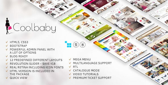 Coolbaby - CS-Cart theme nulled theme download