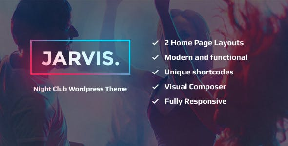 Jarvis - Night Club, Concert, Festival WordPress Theme