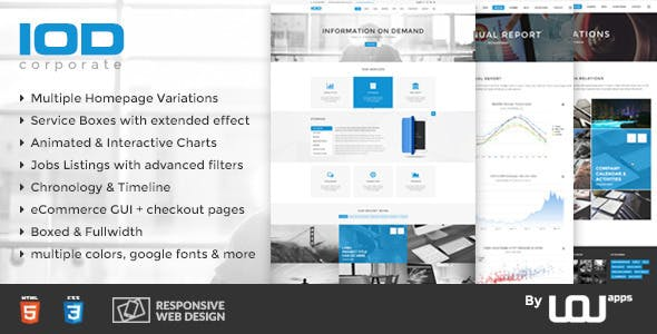 Horizontal Banner Website Templates from ThemeForest