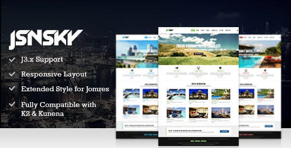 Booking Hotels Joomla Templates from ThemeForest