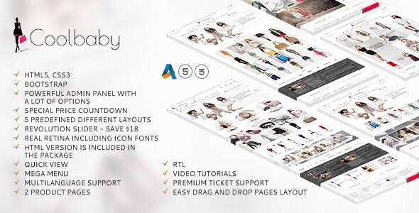 Coolbaby - AbanteCart theme nulled theme download