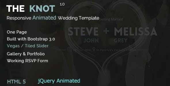 animated template html wedding website templates