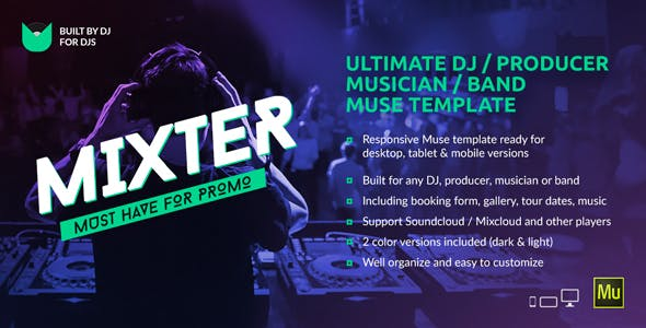 Dj Website Templates From ThemeForest - Dj website templates