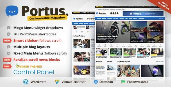News Portal Website Templates From Themeforest