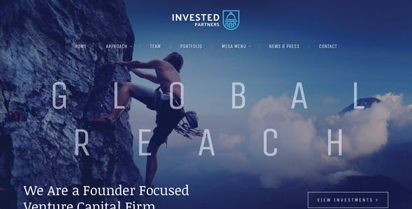 Capital Website Templates From ThemeForest - Venture capital website template