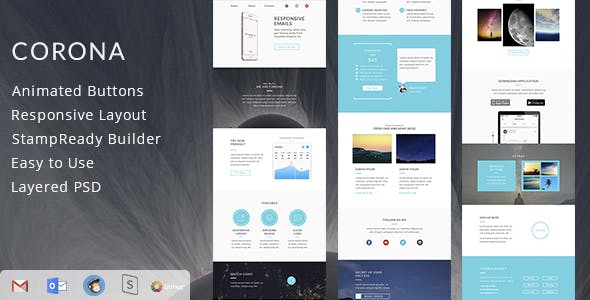 Animated Gif Banner Website Template from ThemeForest