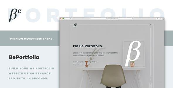 BePortfolio - Behance Projects WordPress Theme