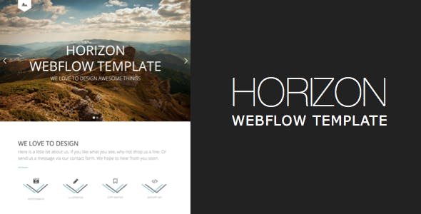 Horizon One Page and Multipage Webflow Template nulled theme download