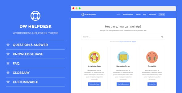 Dw Helpdesk Website Template from ThemeForest