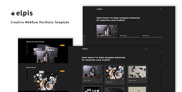 Elpis - Creative Webflow Portfolio Template nulled theme download