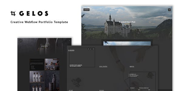 Gelos - Creative Webflow Portfolio Template nulled theme download