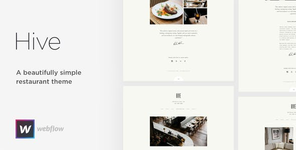 Hive - Restaurant & Cafe Webflow Template nulled theme download