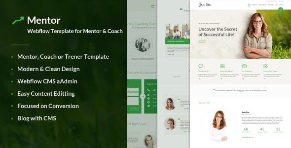 Mentor – Webflow Template for Personal Development Coaches nulled theme download