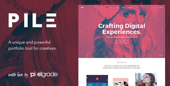 PILE - An Uncoventional WordPress Portfolio Theme