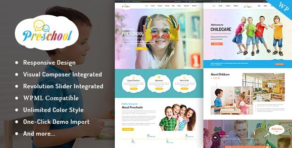 Preschool - Nurseries Kindergarten and School WordPress Theme