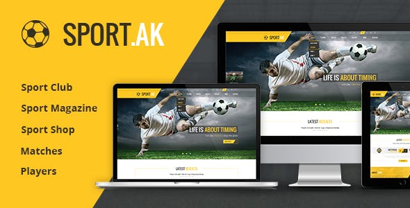 Soccer Club Website Templates From ThemeForest - Soccer website templates