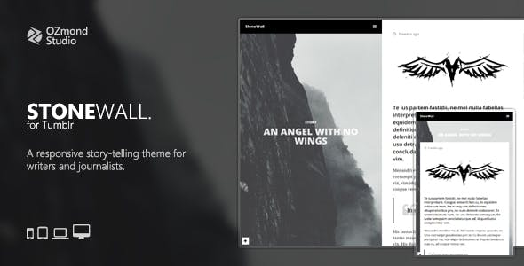 Stonewall A Responsive Tumblr Theme For Writers And Journalists