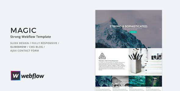 MAGIC - Strong Webflow Template nulled theme download