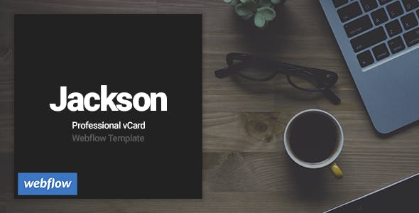 Jackson - Professional vCard Webflow Template nulled theme download
