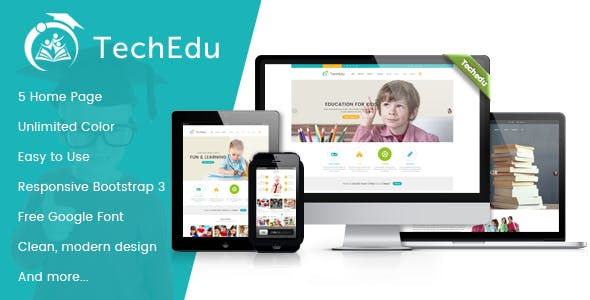 Power point template business website templates from themeforest techedu education bootstrap template toneelgroepblik Image collections