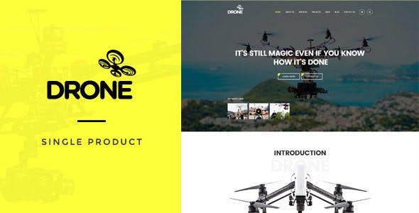 Drone - Single Product WordPress Theme