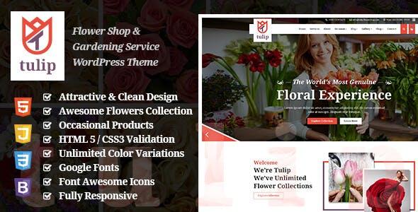 Tulip - Flower Shop & Gardening Service WordPress Theme nulled theme download