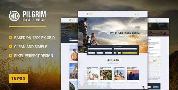Travel Tour Operator Website Templates from ThemeForest