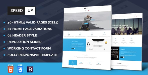 Software company html website templates from themeforest speedup business corporate and portfolio html template cheaphphosting Images