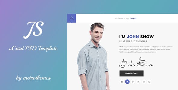 Resume Personal PSD Templates from ThemeForest (Page 2)