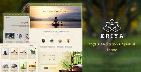 yoga website templates from themeforest