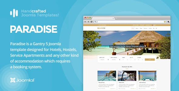 It Paradise Gantry 5 Hotel Booking Joomla Template