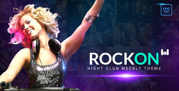 Rockon - Night Club Weebly Theme nulled theme download