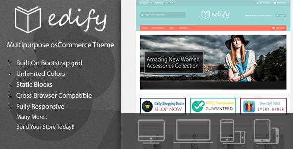 Edify - Responsive osCommerce Theme nulled theme download