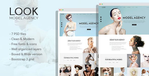 Modeling Agency PSD Files and Photoshop Templates