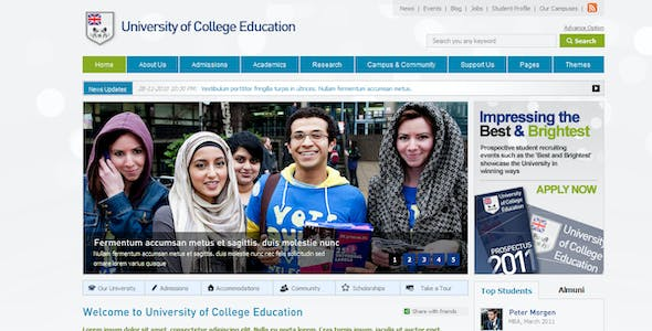 College Website Templates from ThemeForest