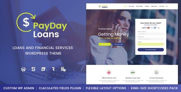payday loans banking loan business and finance wordpress theme