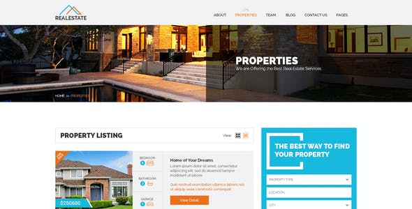realestate multi purpose psd template tags for sale by owner
