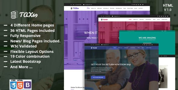 bookkeeping html website templates from themeforest