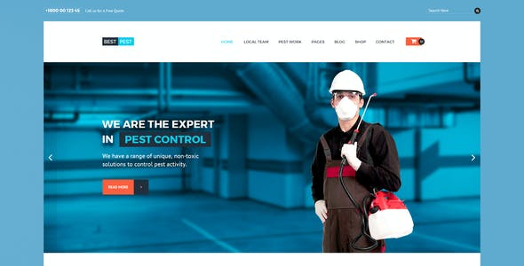 Pest Control Template Templates from ThemeForest