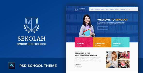 Academics Education Website Templates From ThemeForest - Education website templates