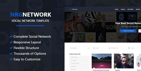 social network template website templates from themeforest