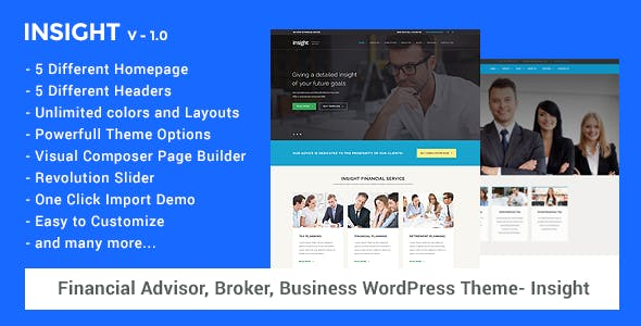 Financial Advisor, Business WordPress Theme - Insight